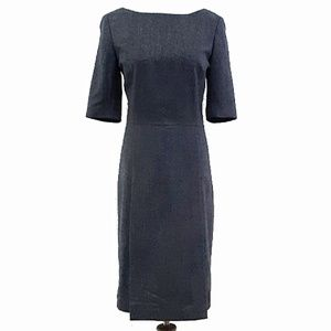"Brooks Brothers ""346"" Classic Wool Shift Dress 8"